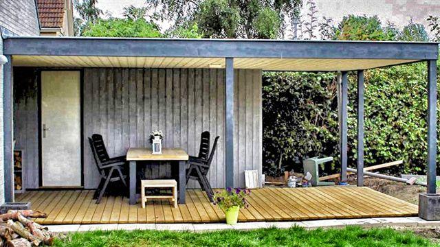 Overkapping of aanbouw bij de woning for Huis in tuin voor ouders